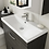 Thumbnail: 600mm Athena Avola Grey 1 Drawer Wall Unit and Basin