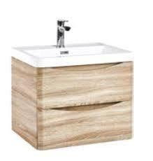 Bella 600mm Driftwood Oak Unit and Basin