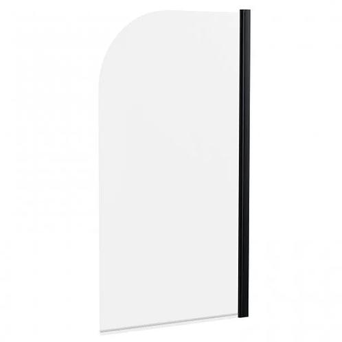 KVIT Black Frame Round Shower Screen