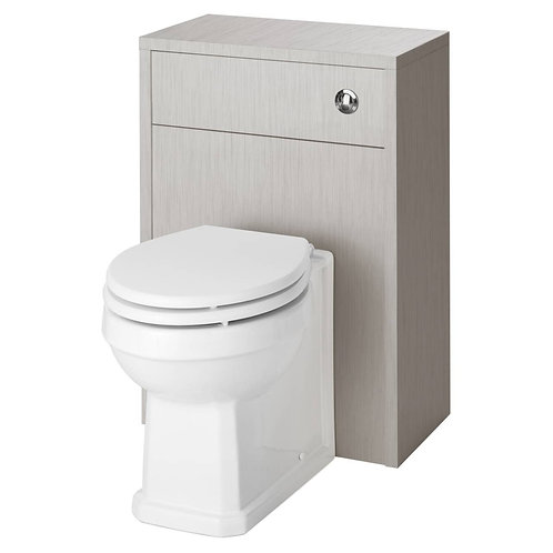 York Stone Grey WC Unit and Concealed Push Button Cistern OLF241 +
