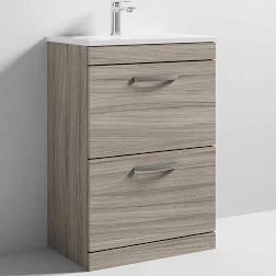 Driftwood Athena 600mm 2 Drawer Unit and Basin