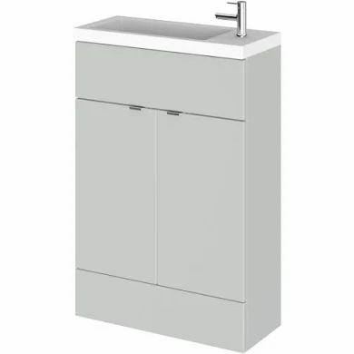 Fusion Slimline 600mm x 260mm unit and top in Mist Grey