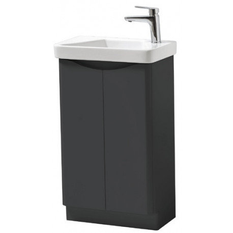 Cayo Matt Anthracite 500mm x 290mm Unit and Basin