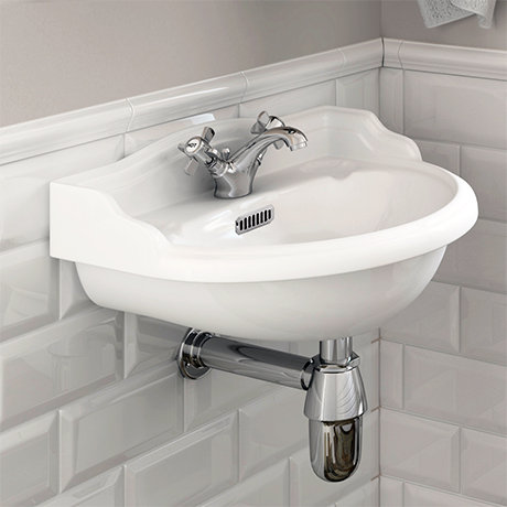 Chancery 500mm Wall Basin 1 or 2 Taphole