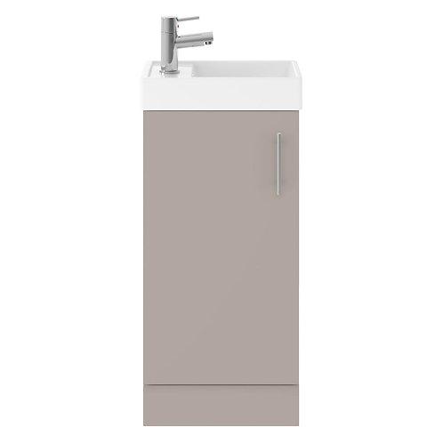 Vault Stone Grey small minimalist unit and basin MIN006
