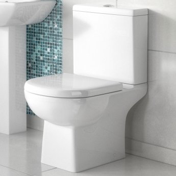 Asselby open back close coupled WC & heavy weight seat