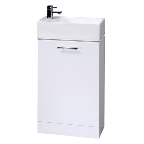 Compact White unit and basin