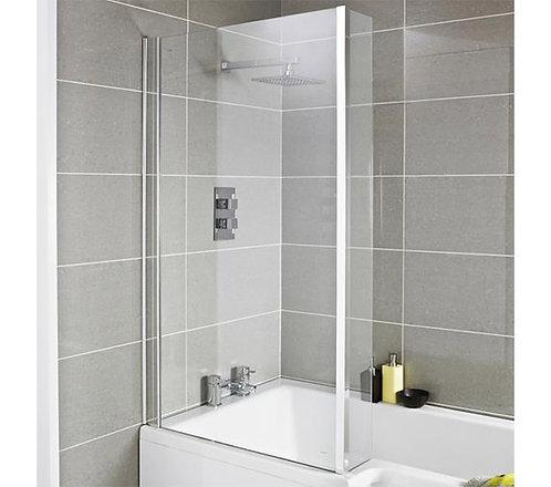 Fixed L shaped Bath Shower Screen