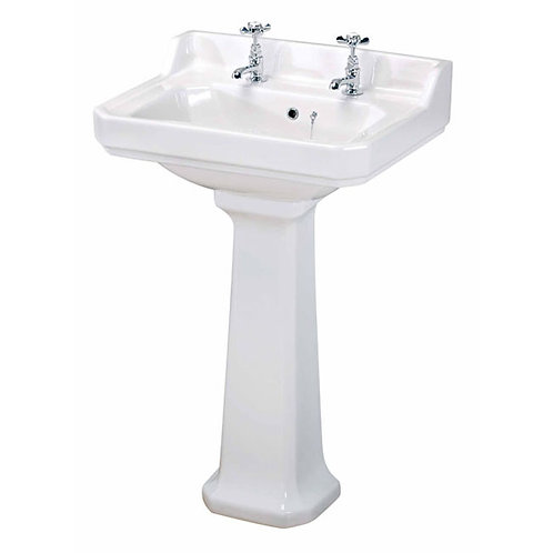 560mm Richmond Basin and Pedestal 1, 2 or 3 Tap Hole