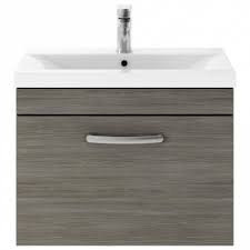 600mm Athena Avola Grey 1 Drawer Wall Unit and Basin