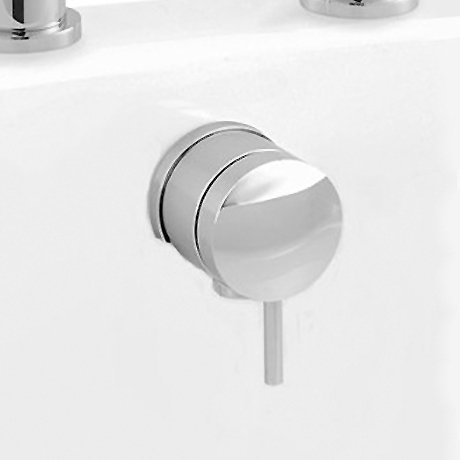 Ultra Chrome Overflow Filler Tap With Pop Up Bath Waste