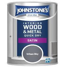 .75 litre Johnstones quick drying coloured satin paint