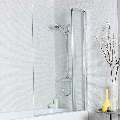 Square Double Hinged Bath Shower Screen 1000mm x 1400