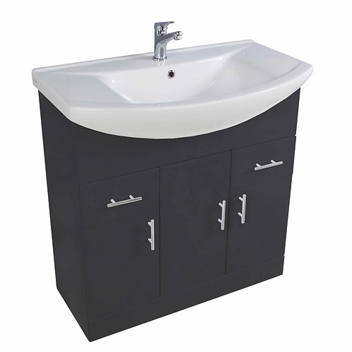 Lanza 750mm Anthracite Gloss Basin and Unit