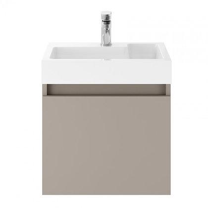 Merit Stone Grey 500mm wall unit & basin