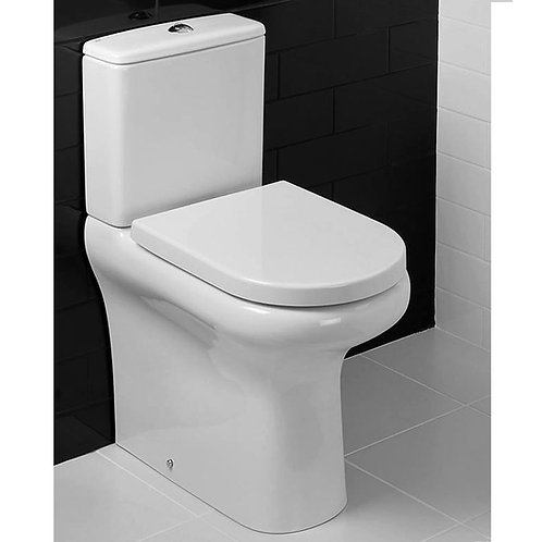 RAK Compact Rimless Comfort Height BTW WC