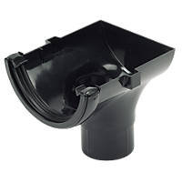 Black round 112mm Gutter Stop end outlet