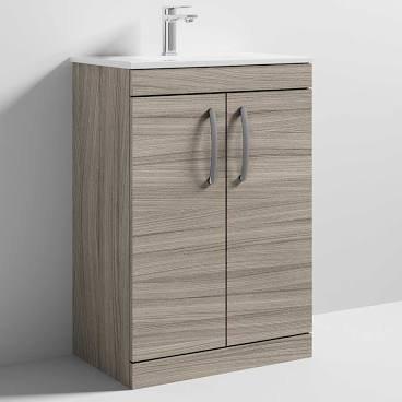 Athena 600 Driftwood 2 Door Unit & Basin