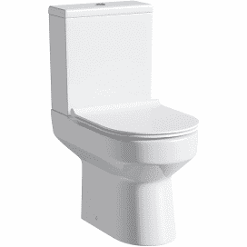 Ozone Rimless Compact Close Coupled WC with Slimline seat
