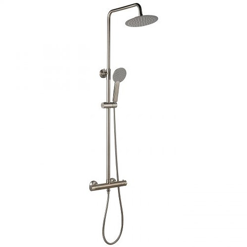 Equate Brushed Nickel Round Twin Head Mixer Shower