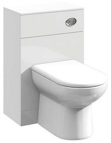 Ultra 500mm White Gloss WC Unit & concealed cistern