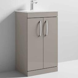 Athena 600 Stone Grey 2 Door Unit & Basin