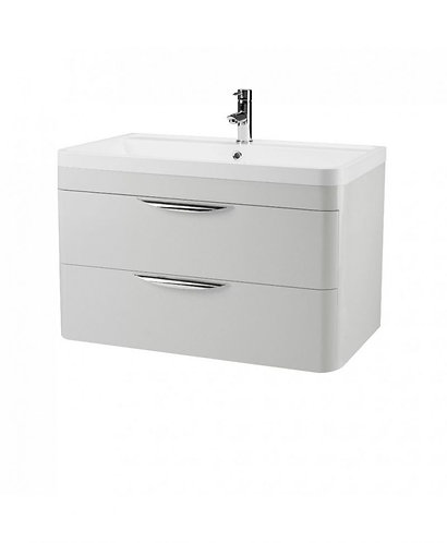 800mm Parade Grey Mist Wall Mounted Unit and Basin FPA405