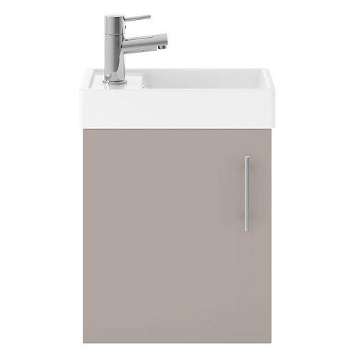 Vault Stone Grey small minimalist wall unit and basin MIN012