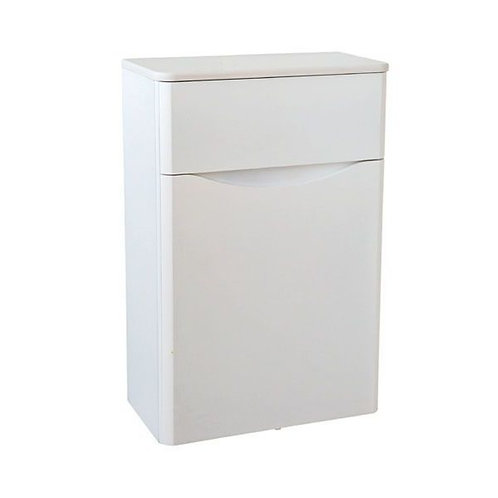 Cayo White Gloss 500mm WC Unit & Concealed Push Button Cistern