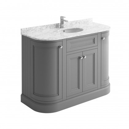 Cromford Grey 1200mm unit, marble top & basin