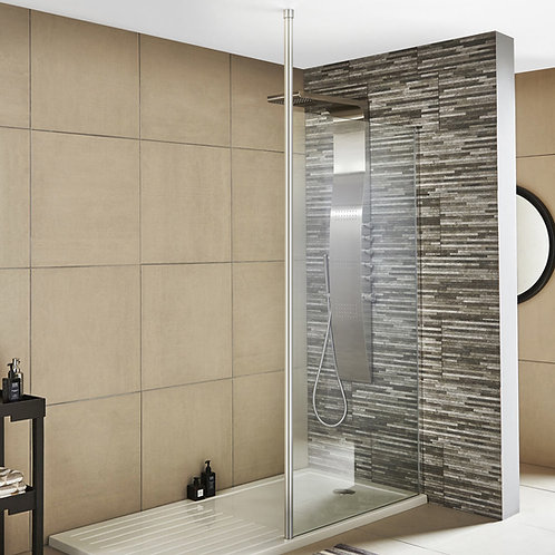 Walk Wetroom Screen With Ceiling Post