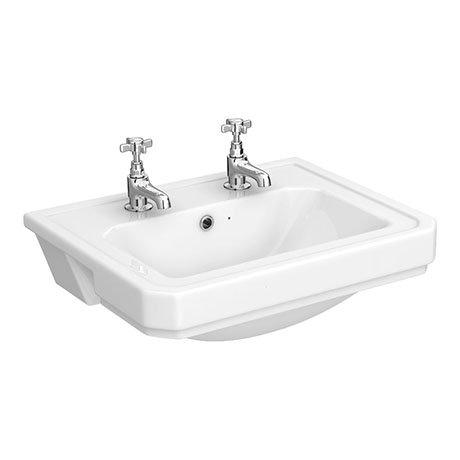 Richmond 2 tap hole semi recessed basin