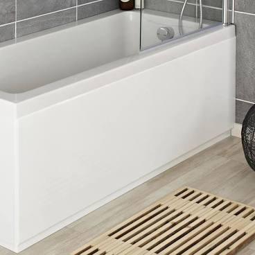 1800mm Athena white MDF Front Bath Panel BPR107