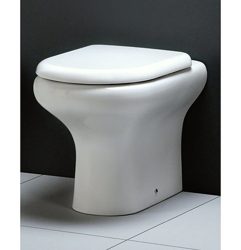 Rak Compact Comfort Height Back To Wall Pan & Seat