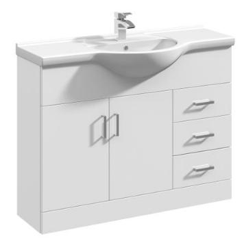 Ultra 1050mm White Gloss Vanity & Basin