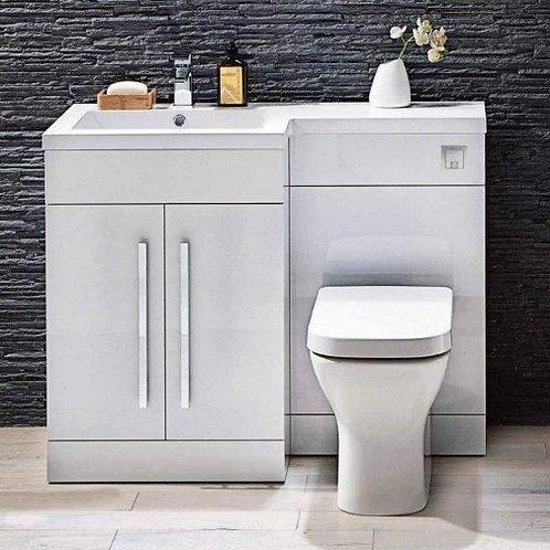 Lili Gloss White 1100mm Bathroom Furniture Pack