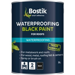 5 litres Bostik black bituminous paint