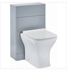 Rossini 500mm Pebble Grey WC Unit & Concealed Push Button Cistern