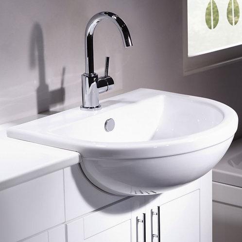 Minerva semi recessed basin