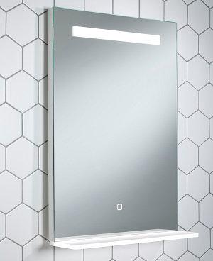 Ayr 700mm x 500mm Bluetooth LED Mirror With Illuminated Shelf