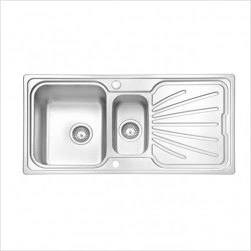 Nordic 2. High grade stainless steel sink and waste