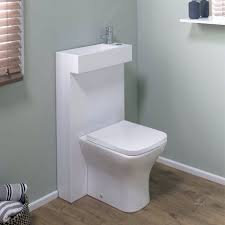 WC Combo Unit. Polymarble Basin Unit with WC and Tap