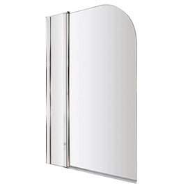 Hinged Round Double Bath Shower Screen 1000mm x 1400