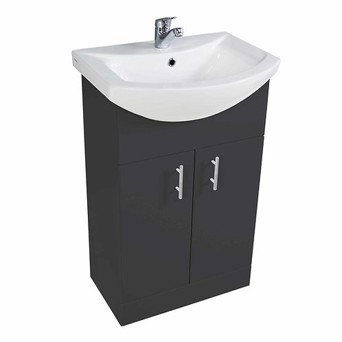 Lanza 650mm Anthracite Gloss Basin and Unit