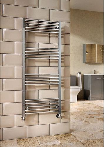 600mm x 800mm chrome plated heated towel rail