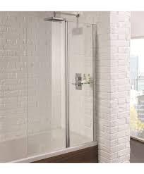 Aquadart 900mm Venturi 6 Bath Shower Screen With Clean and Clear Glass