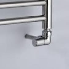 Chrome plated brass corner radiator valve pack