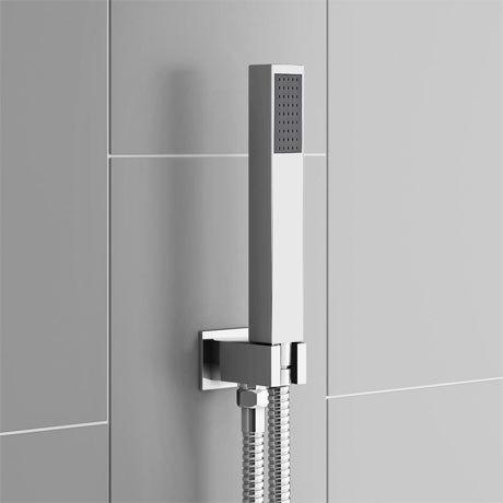 Square Outlet Elbow Bracket Hose & Shower Head SH0106S