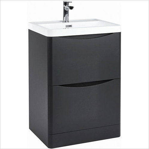 Bella 600mm Wolf Grey  Unit and Basin