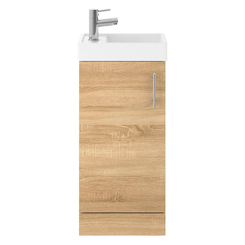 Vault Natual Oak small minimalist unit and basin MIN005